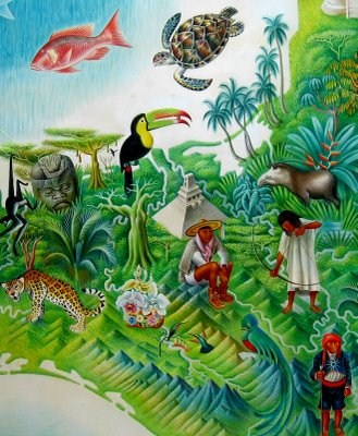 Mexican Map, 1947. By Miguel Covarrubias. Museum of Popular Cultures, Mexico City